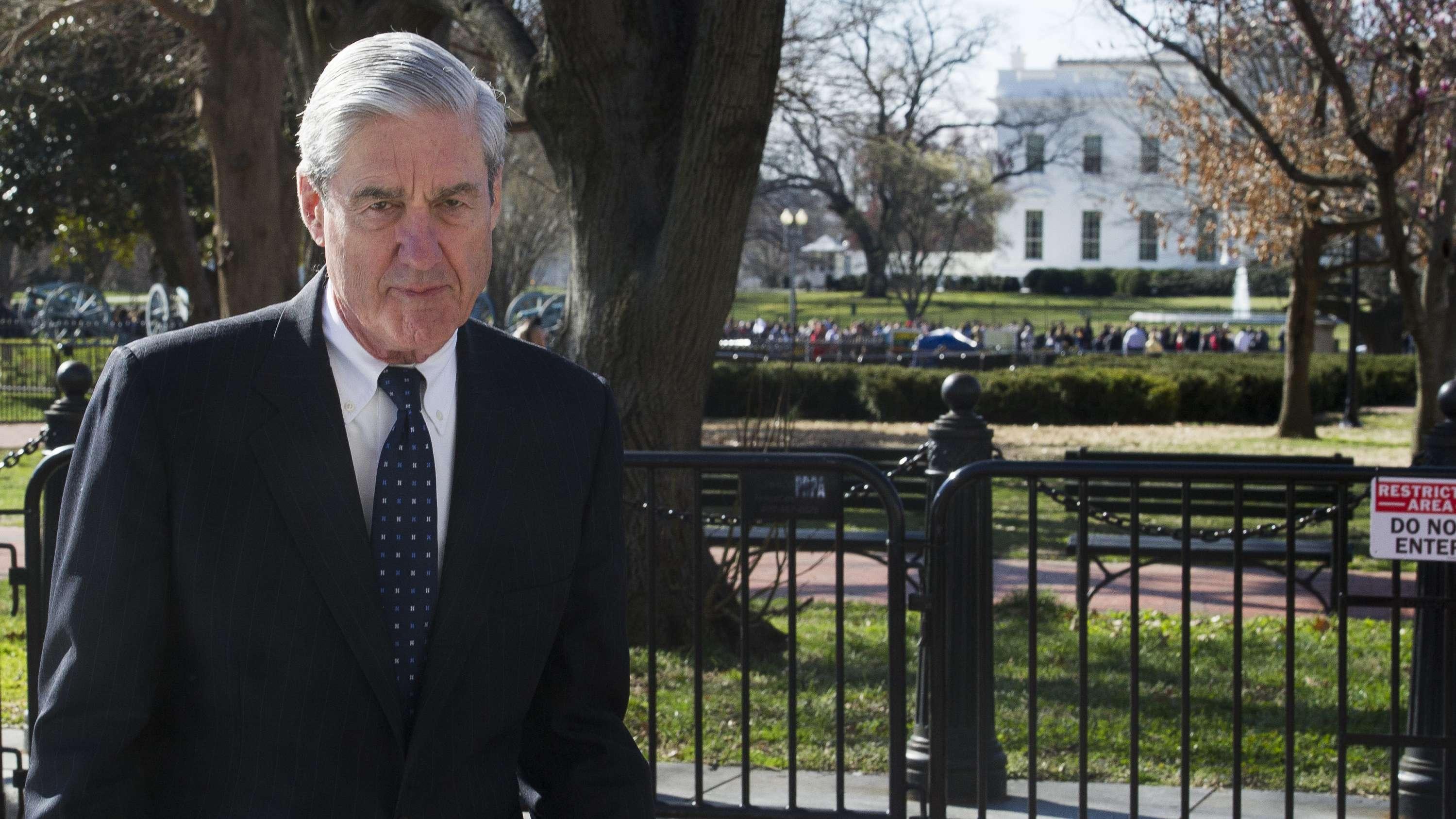 US-Sonderermittler Robert Mueller vor dem Weißen Haus in Washington