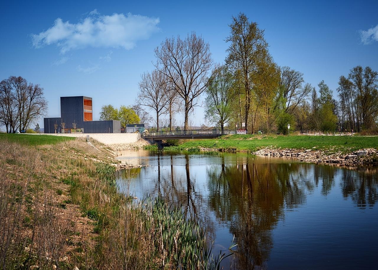 Gartenschau Wassertrüdingen: Der Regionalpavillon an der Wörnitz