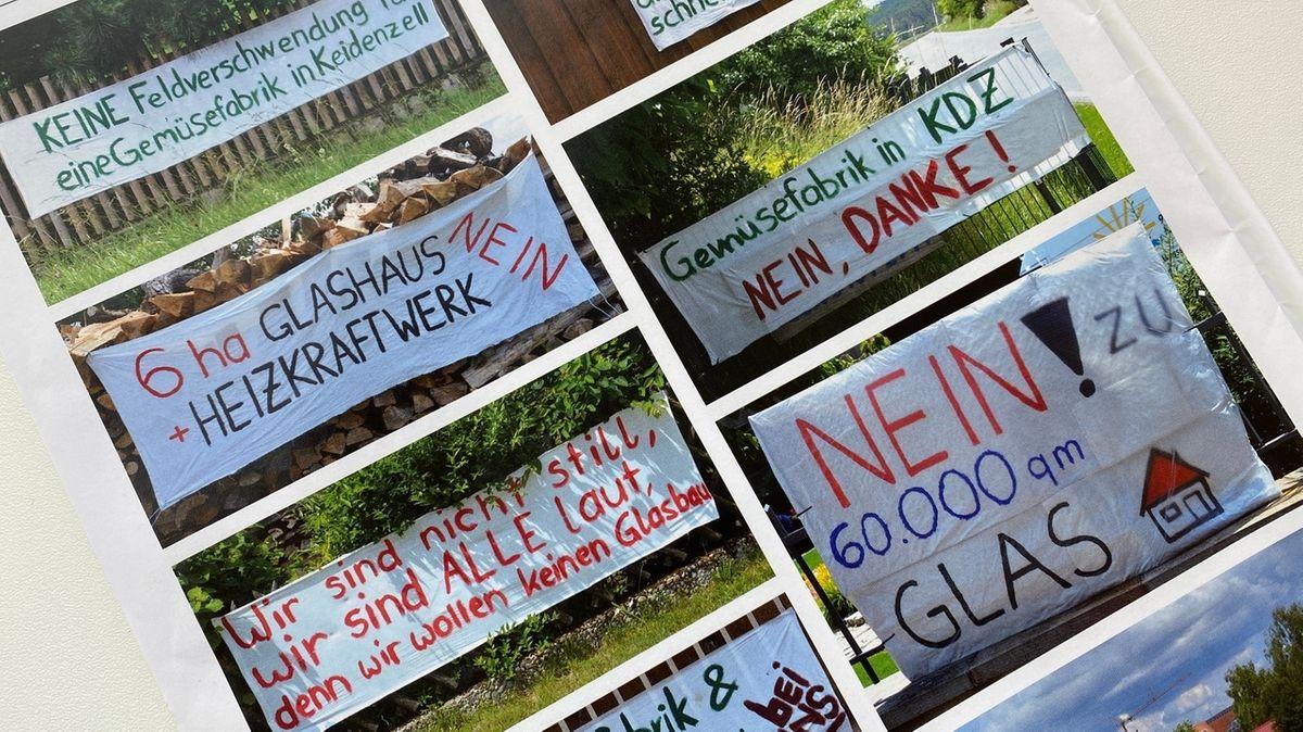 Protest-Schilder im Langenzenner Mitteilungsblatt