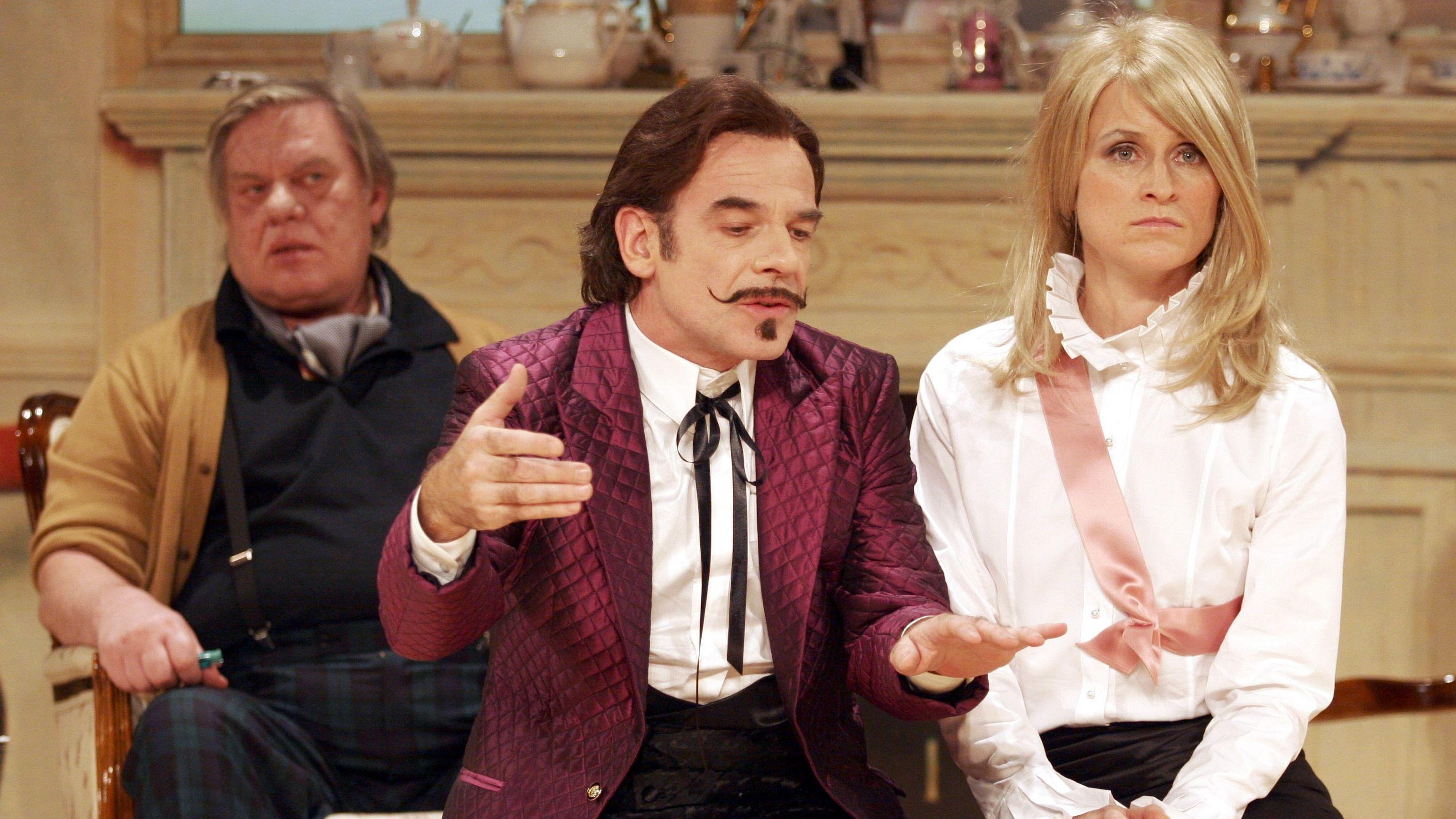 """Die Schauspieler Volker Spengler, Martin Wuttke und Sophie Rois, hier in dem von Pollesch inszenierten eigenen Stück """"L' affaire Martin! etc."""""""