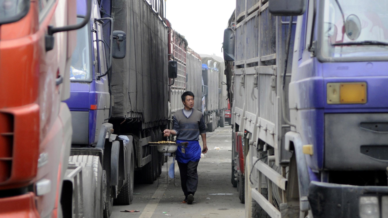 Archivbild: Lastwagen in China