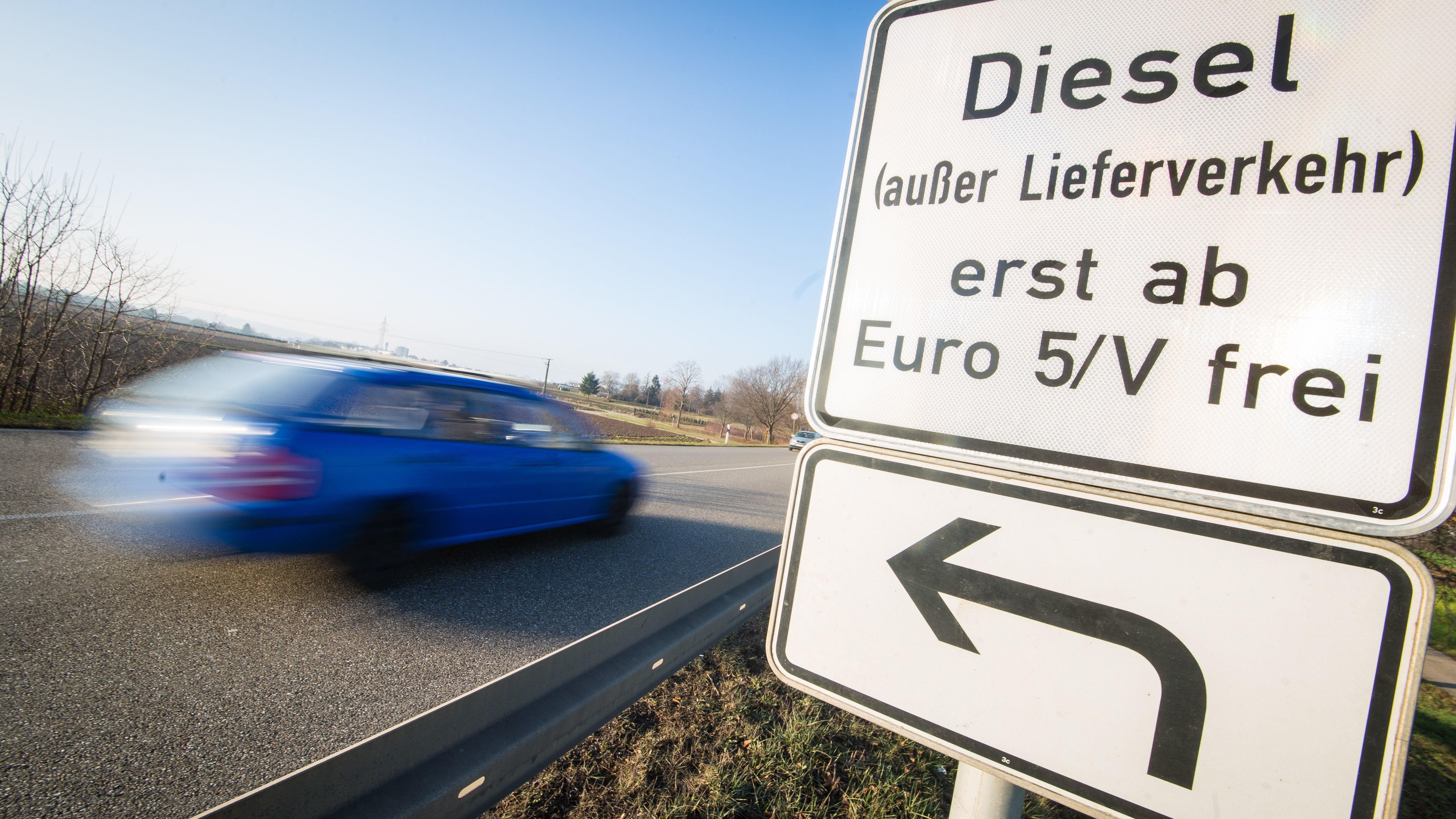 Hinweis auf Fahrverbot in Stuttgart
