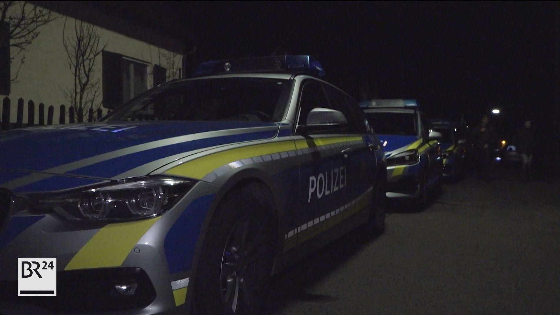 Polizei am Einsatzort in Diedorf