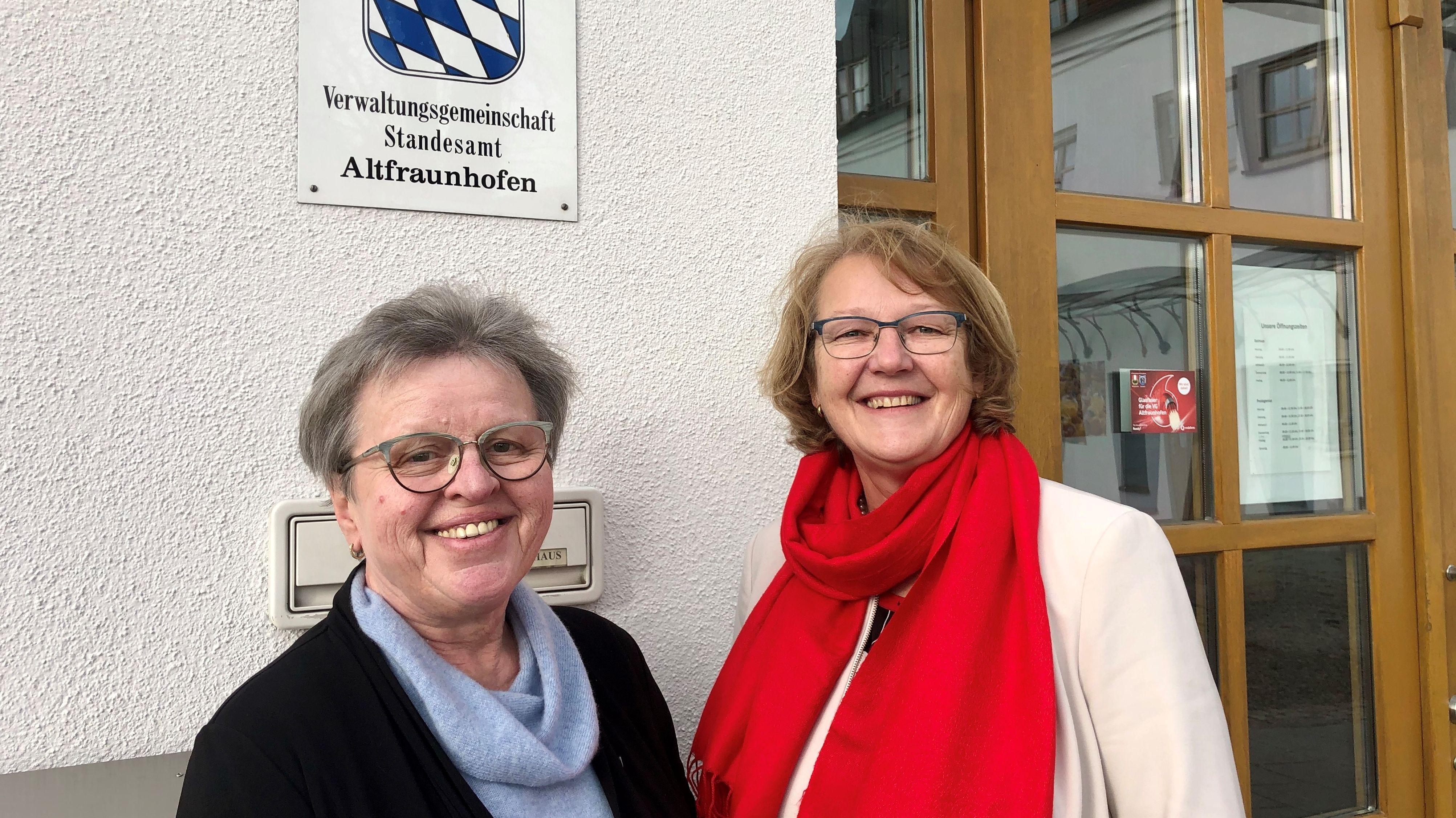 Rathaus-Chefinnen in Altfraunhofen und Baierbach: Katharina Rottenwallner und Luise Hausberger