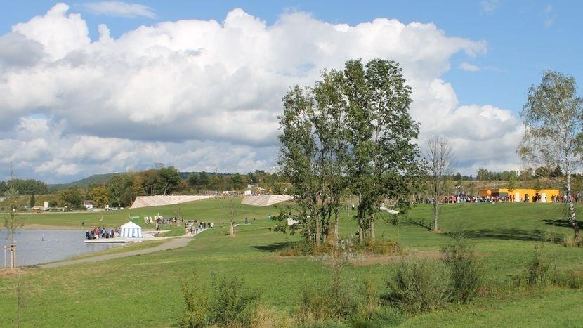 """Ein Blick in das ehemalige Landesgartenschaugelände """"Wilhelminenaue"""" in Bayreuth"""