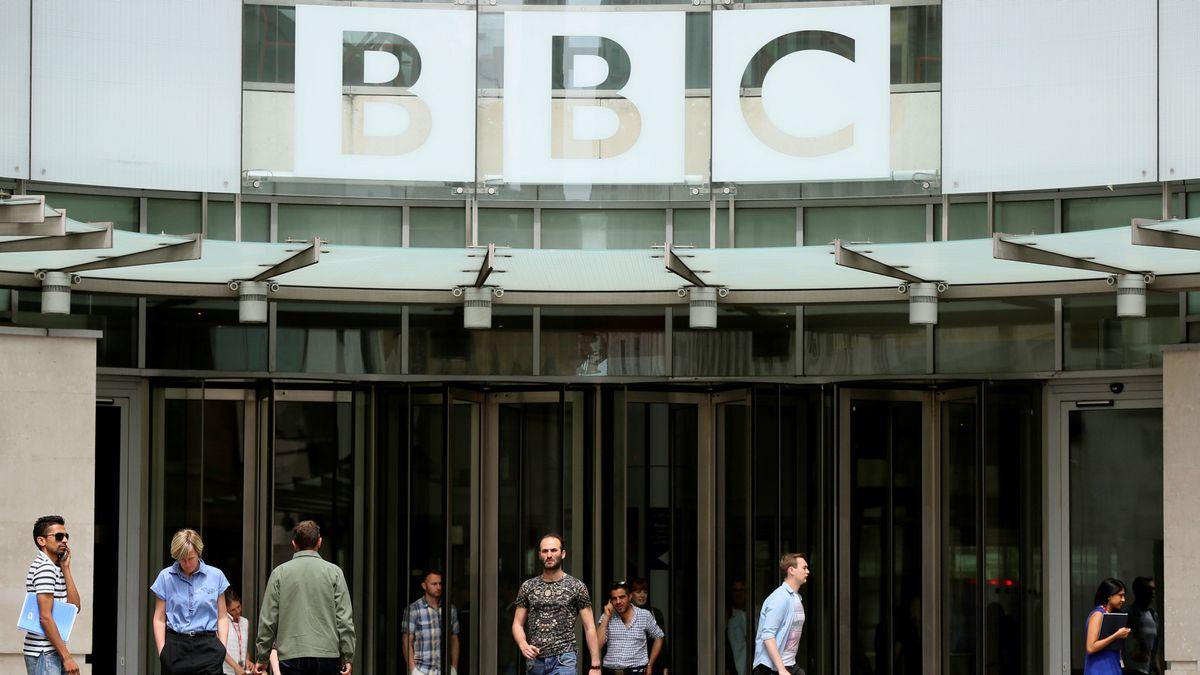 Haupteingang der BBC in London