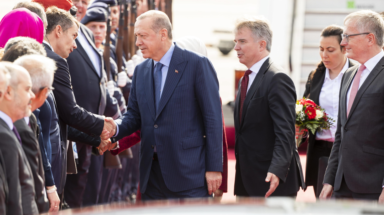 Der türkische Staatspräsident beim Deutschlandbesuch in Berlin
