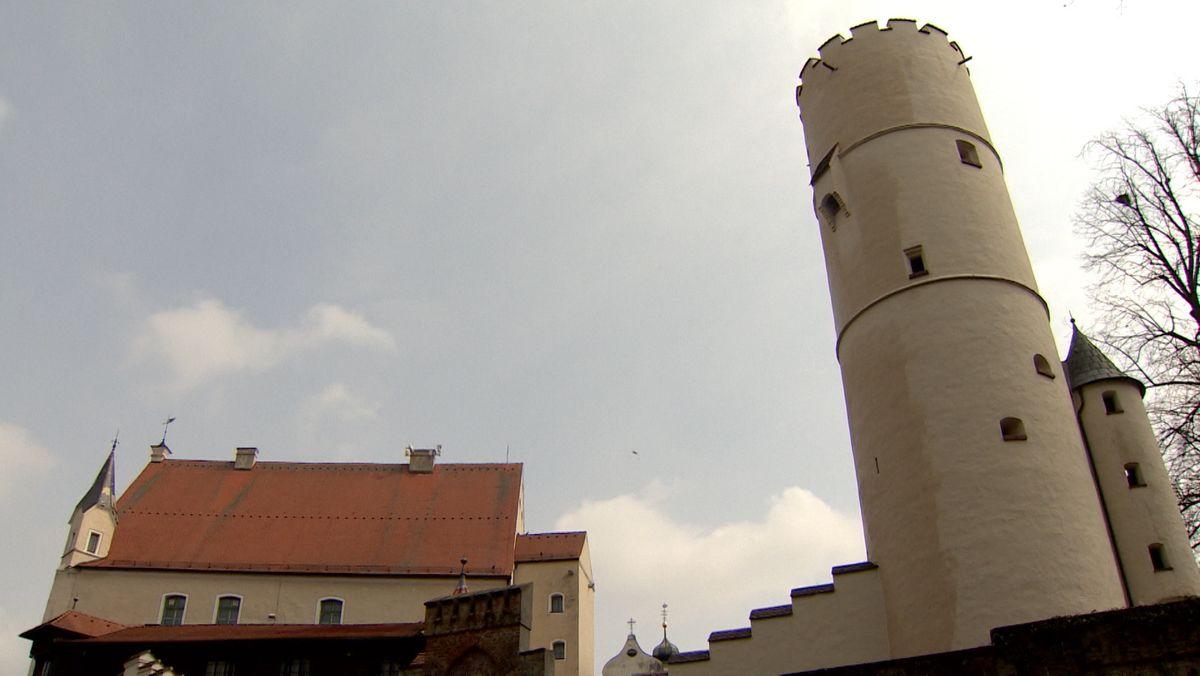 Die Mindelburg oberhalb von Mindelheim