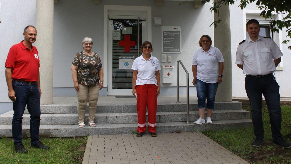 Ehrenamtliche des BRK-Kreisverbands Schweinfurt