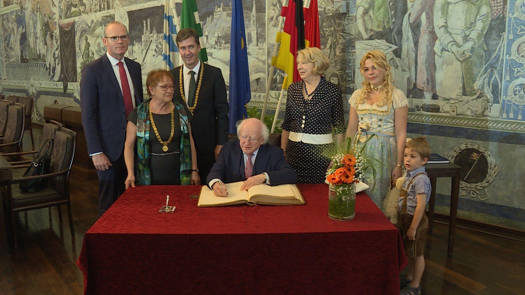 Irischer Staatspräsident Michael D. Higgins in Würzburg