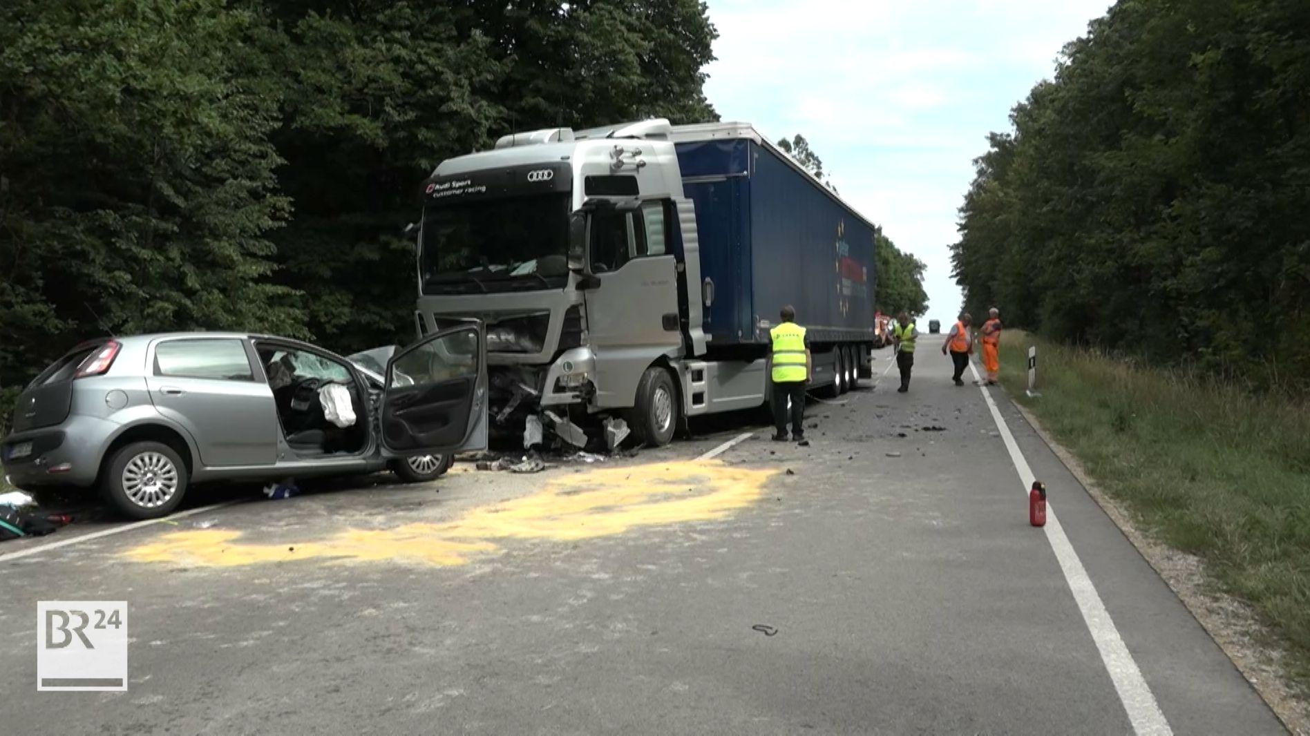 Autofahrer stirbt nach Frontalkollision bei Eitensheim