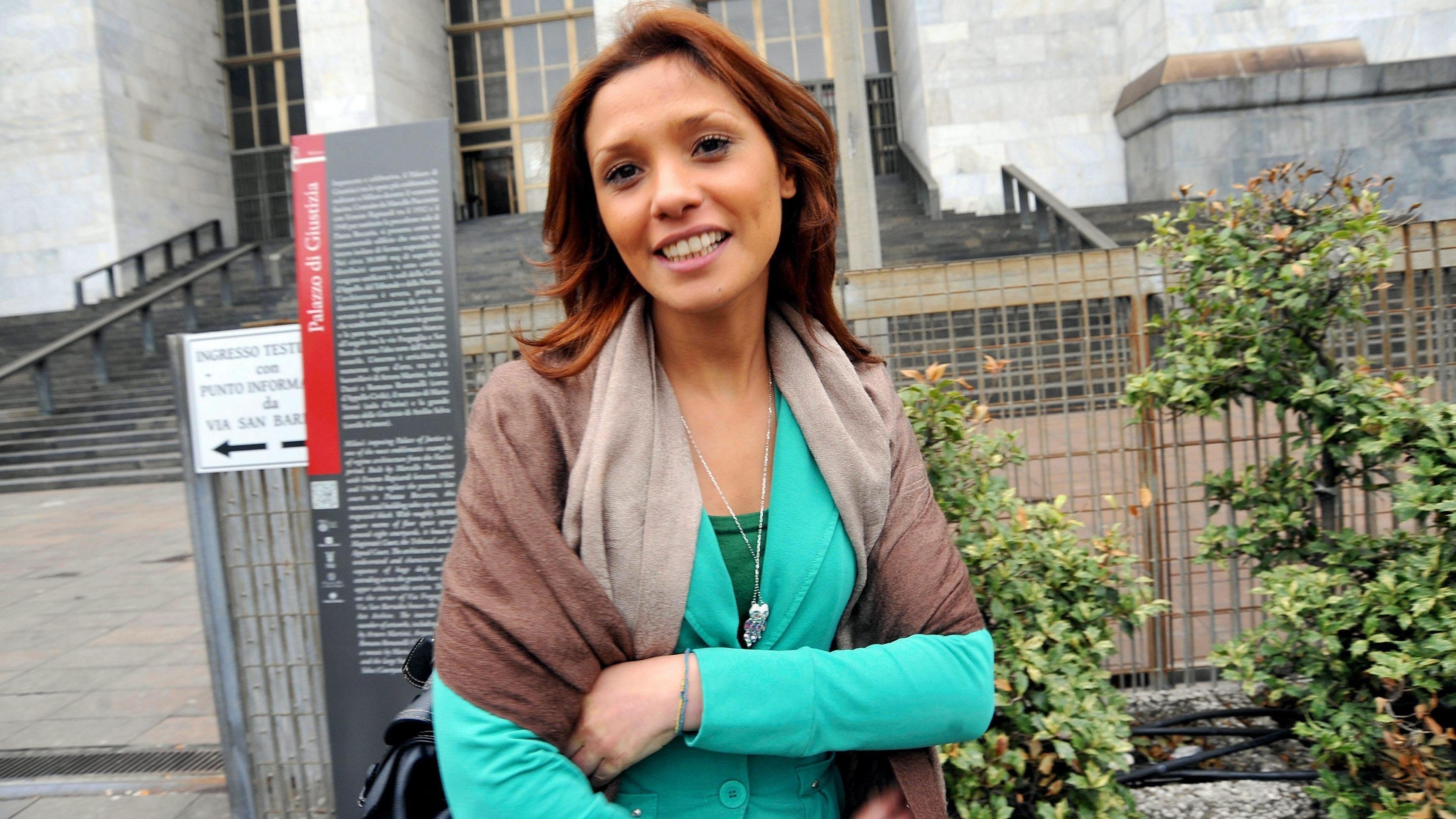 """Imane Fadil bei der Anhörung im """"Ruby""""-Prozess gegen Berlusconi 2012."""