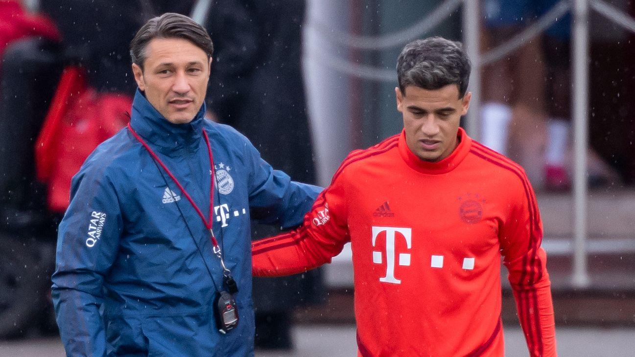 FC-Bayern-Trainer Niko Kovac (links) und Philippe Coutinho