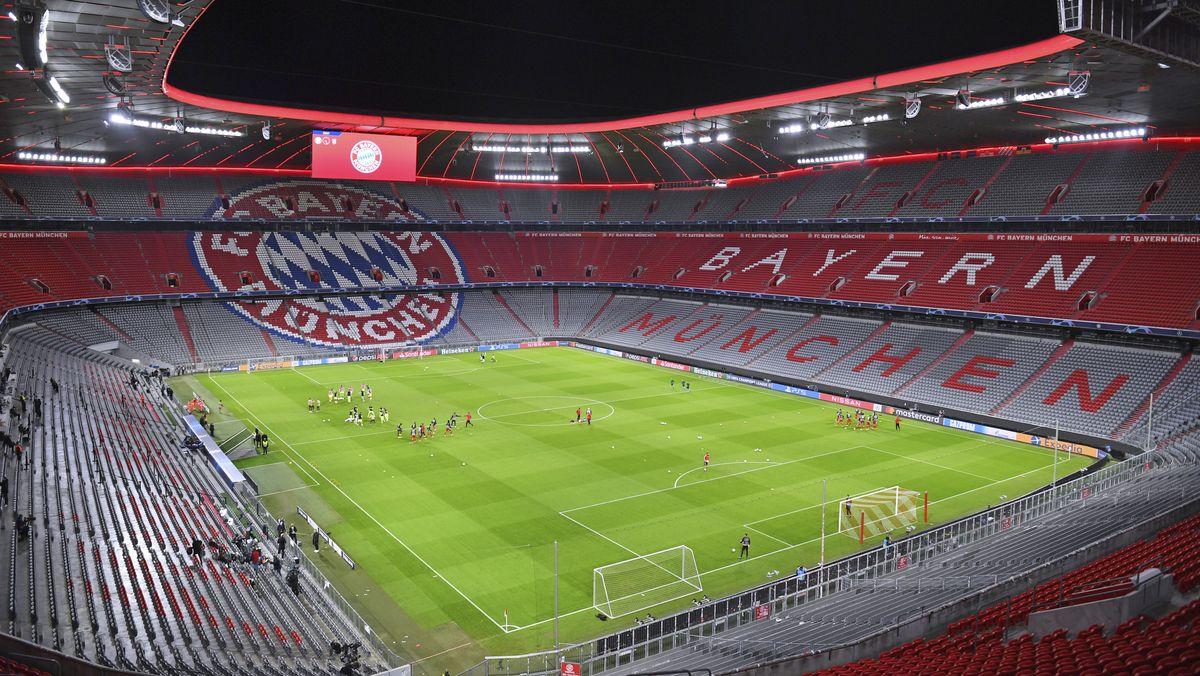 Die leere Münchner Arena in Corona-Zeiten