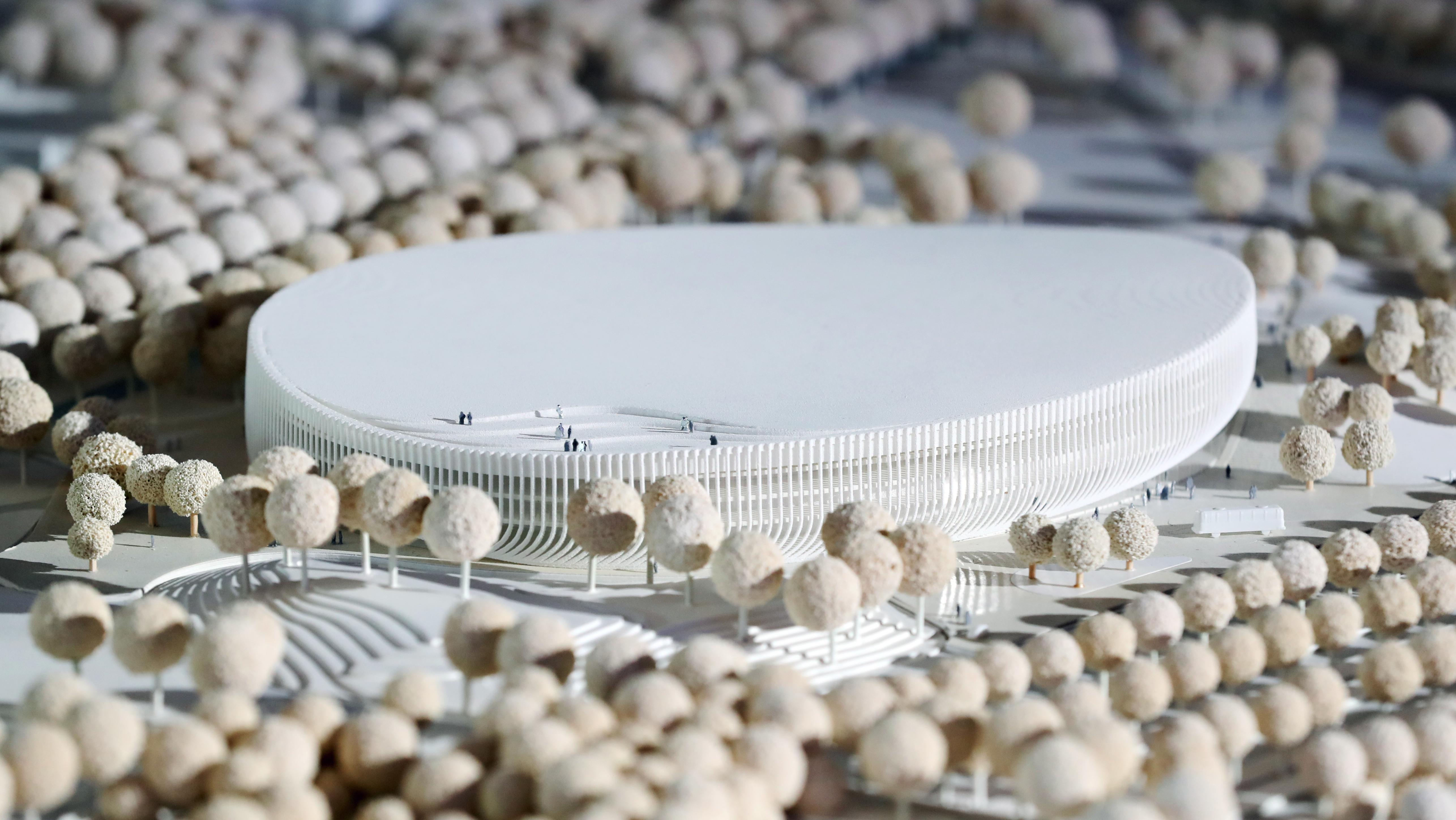 Modell der neuen Basketball- und Eishockey-Arena