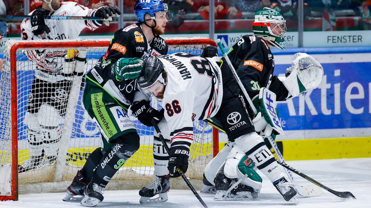 Spielszene Augsburger Panther vs. Kölner Haie