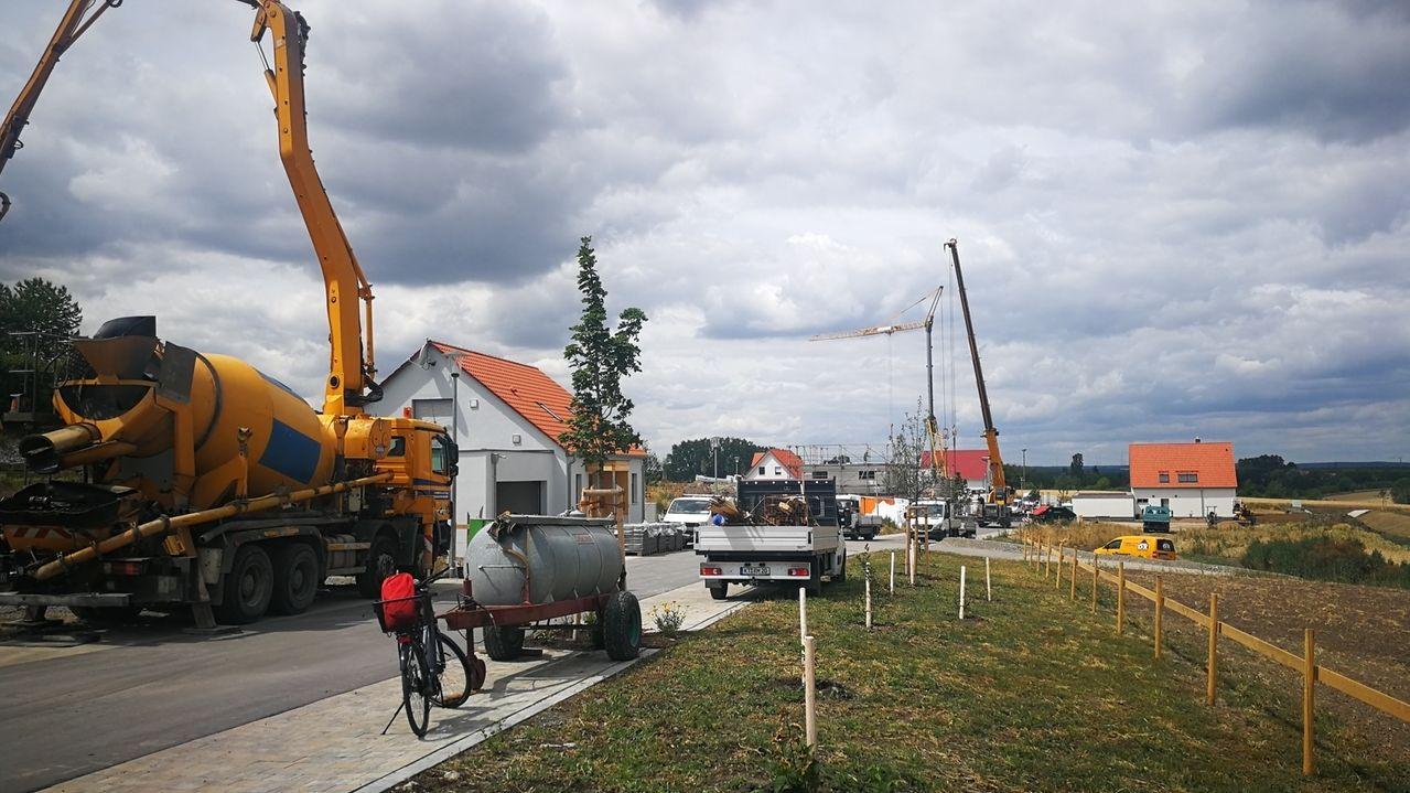 Baugebiet auf dem geiersberg in Iphofen