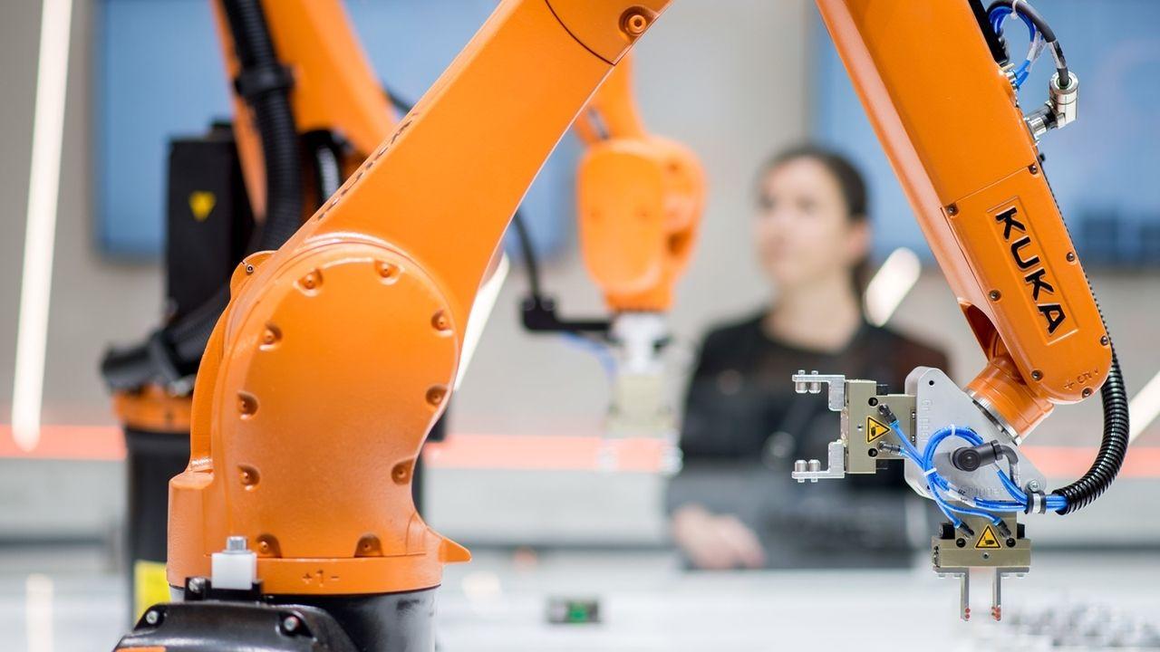 Kuka Roboter auf der Hannover Messe