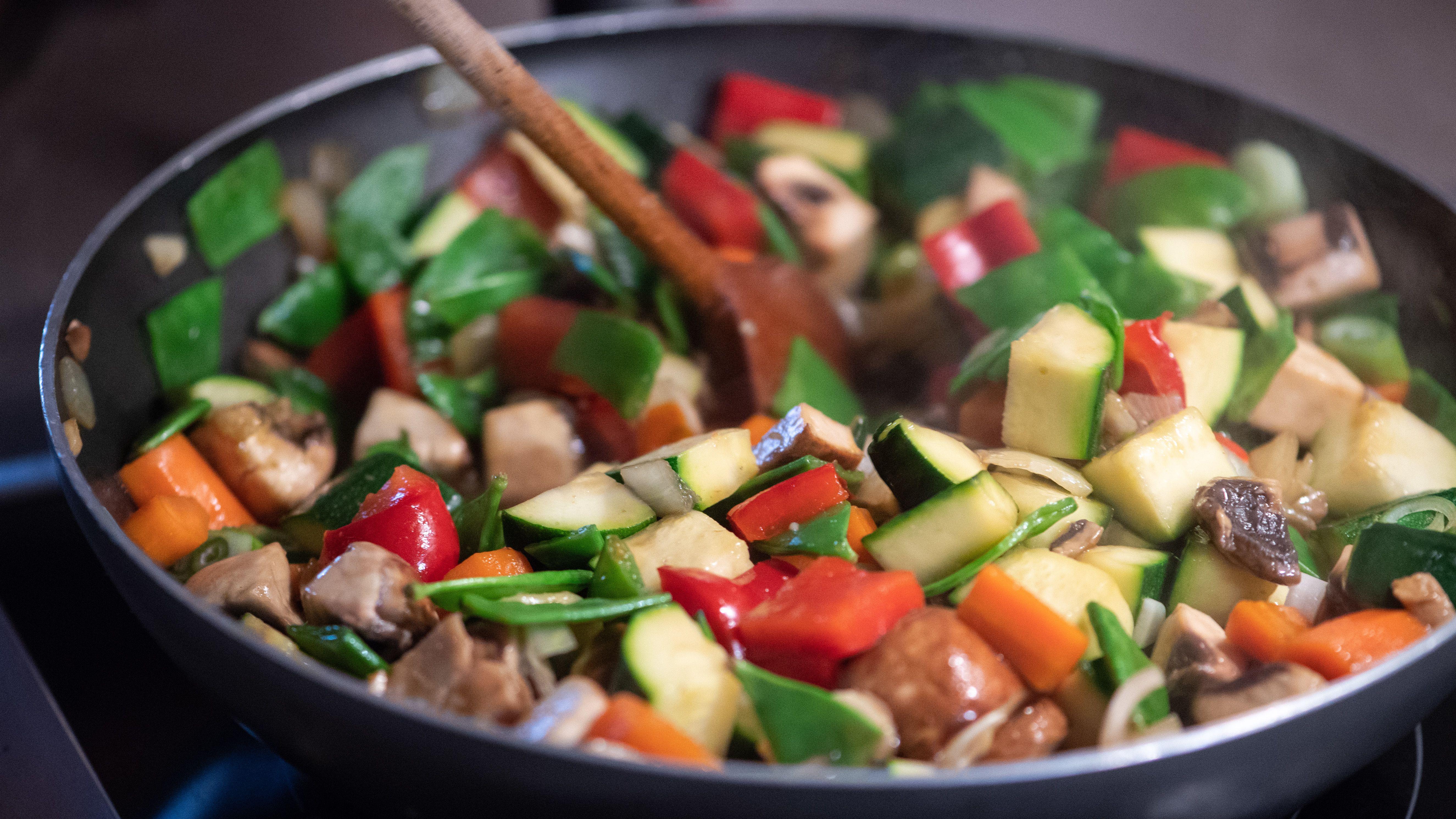 Ein Gemüsewok