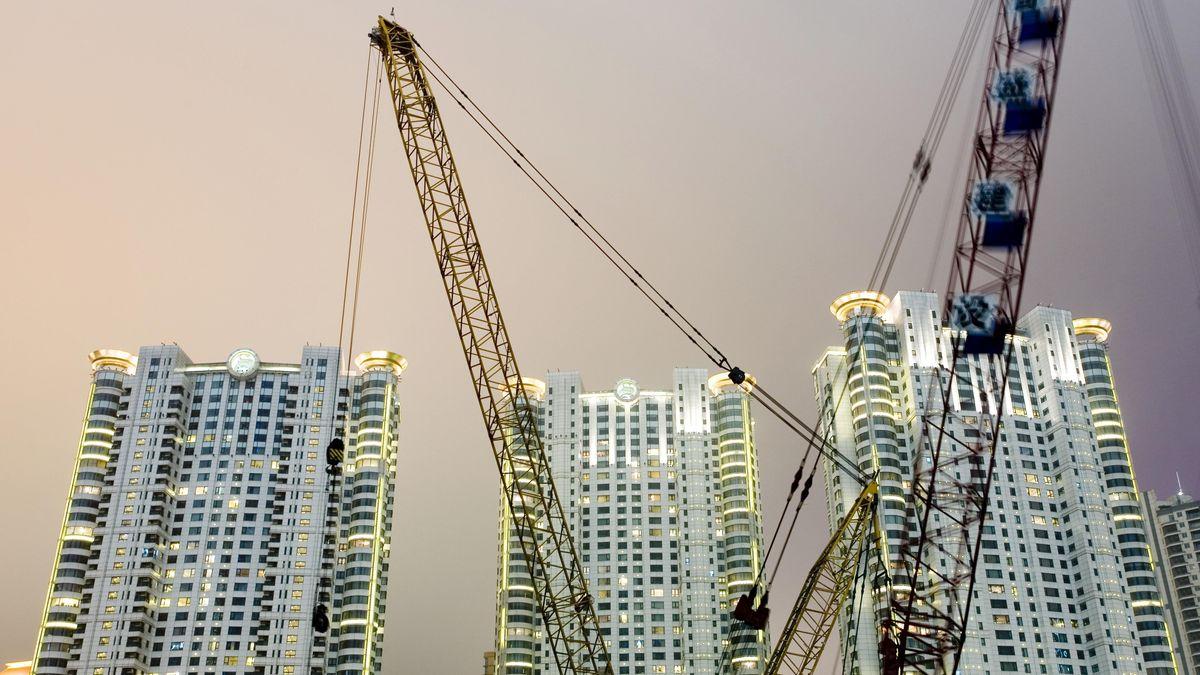Baukräne in Shanghai