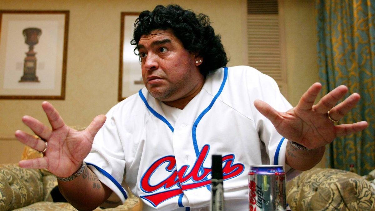 Diege Maradona 2003 auf Kuba