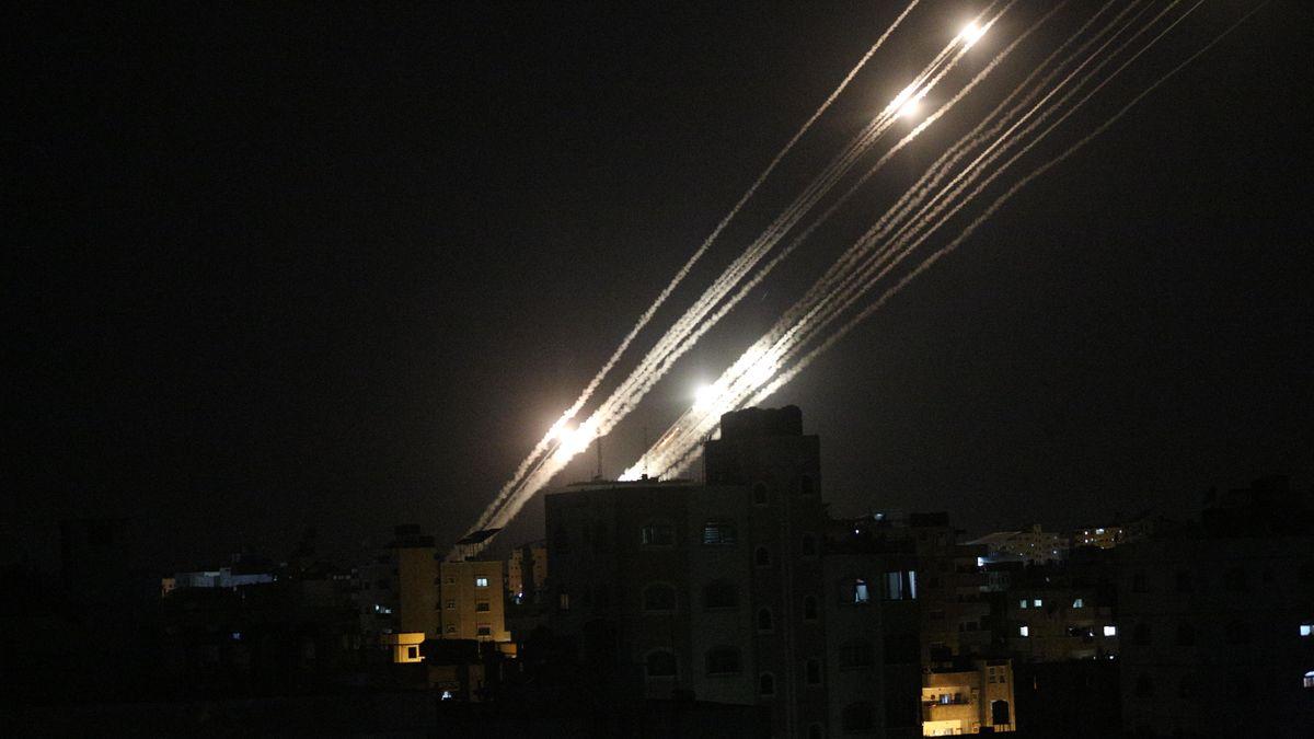 Im Gaza-Streifen werden Raketen abgefeuert
