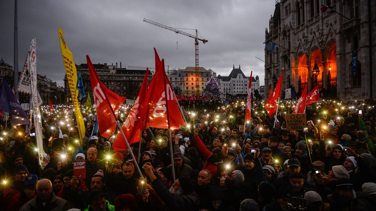 Demonstration in Budapest (Archivbild)
