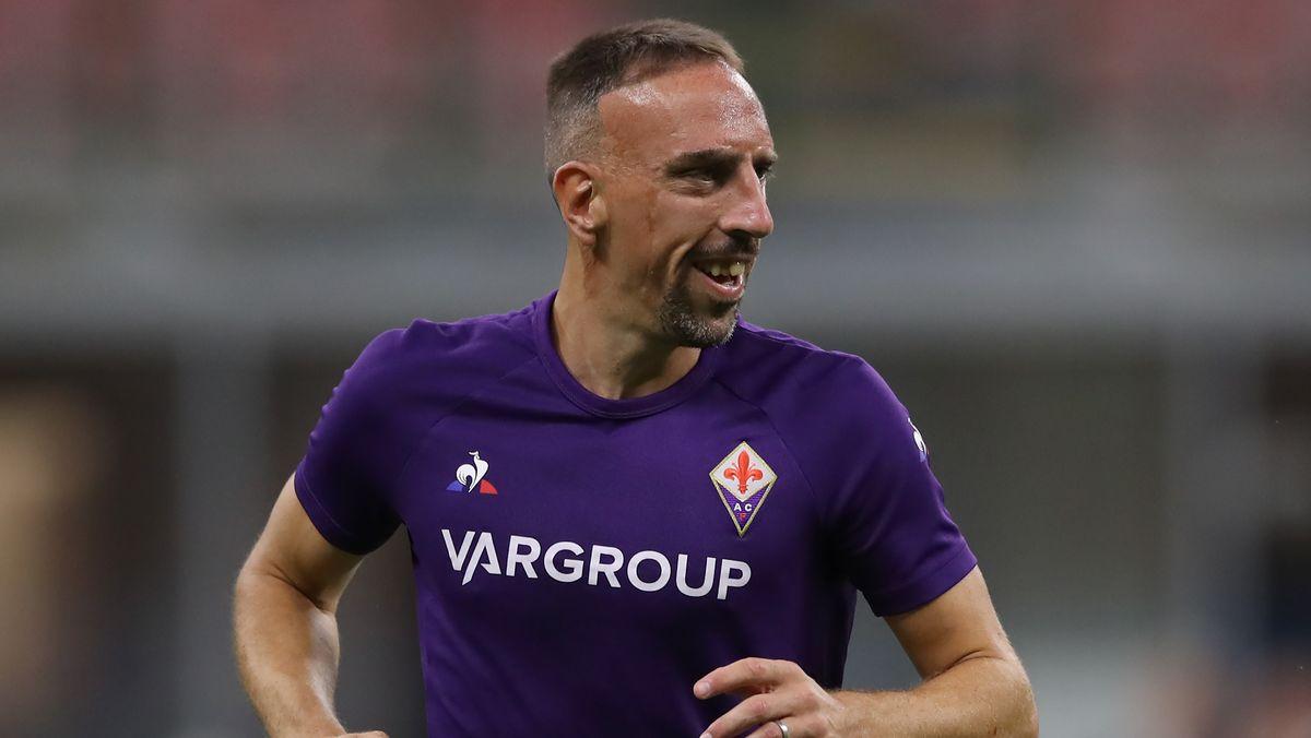 Franck Ribéry im Trikot des AC Florenz