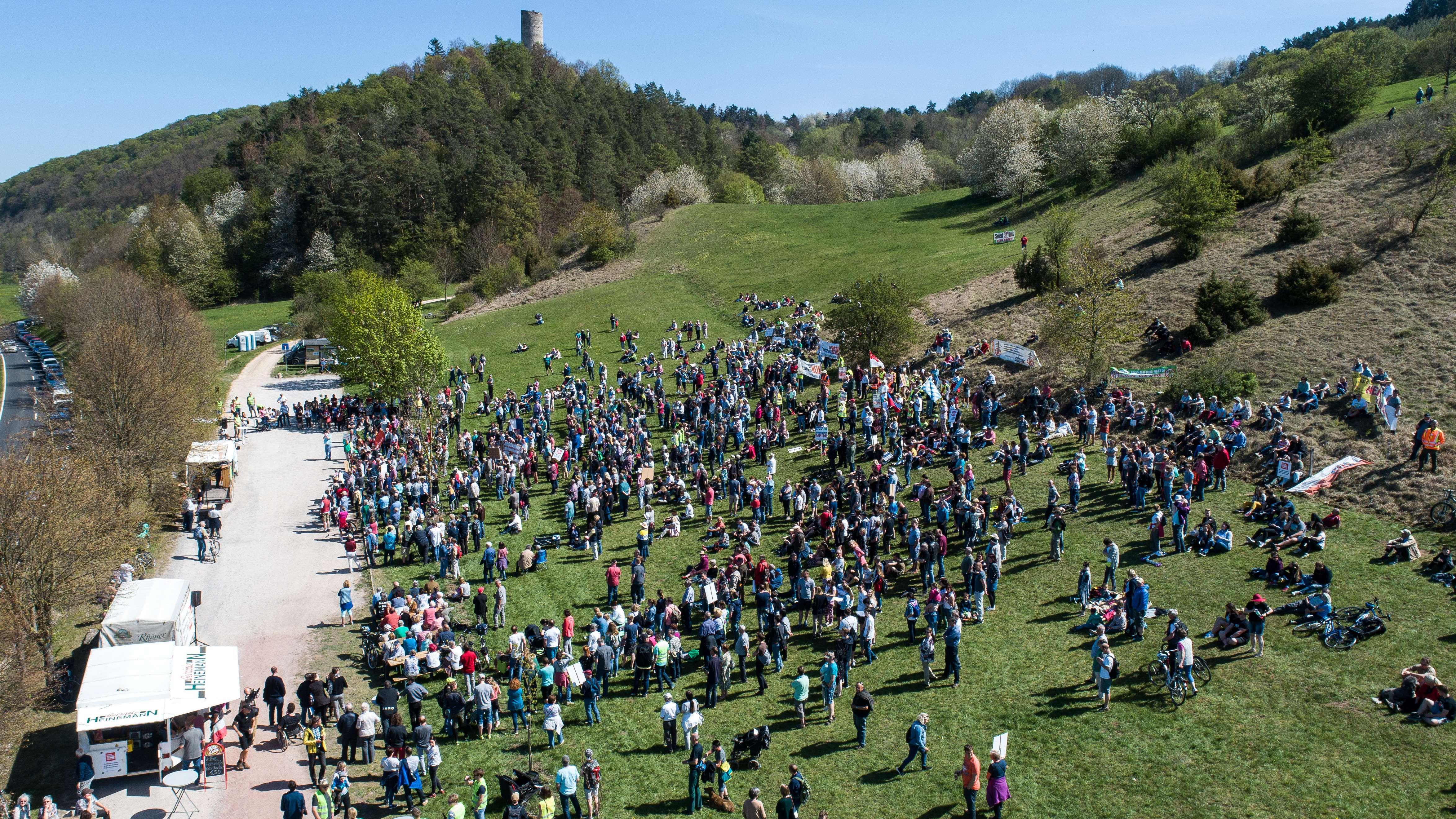 Demo gegen Suedlink in Lauchröden