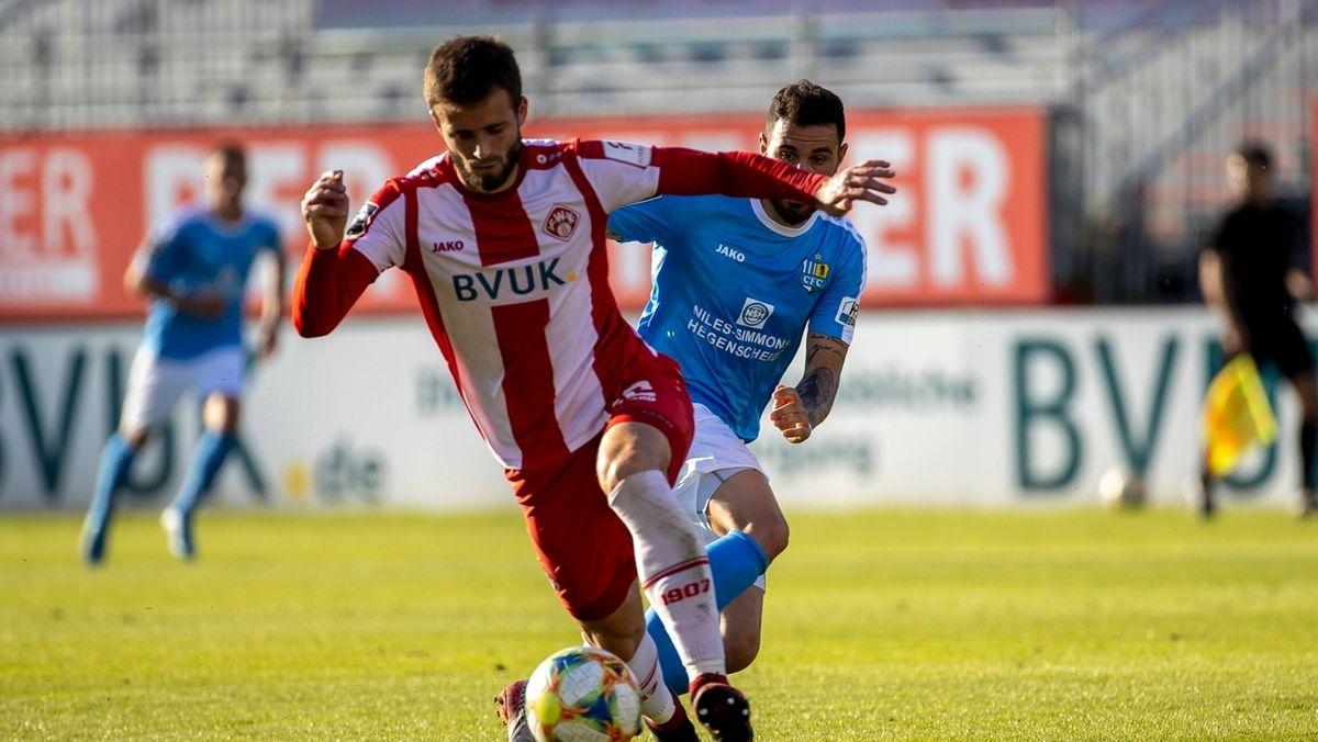 Spielszene Würzburger Kickers -Chemnitzer FC