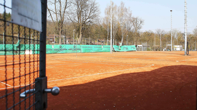 Leerer Tennisplatz
