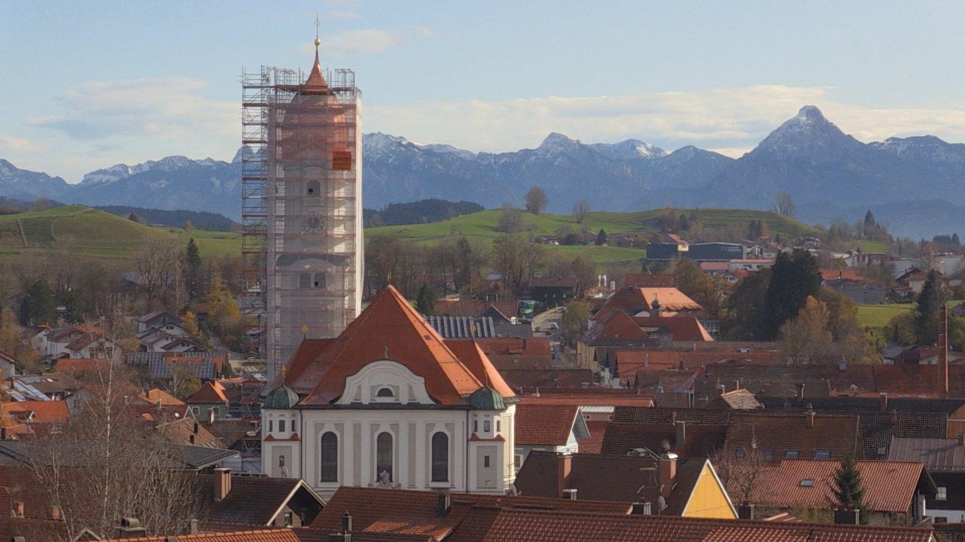 """Abendschau-Kirche"" St. Andreas in Nesselwang"