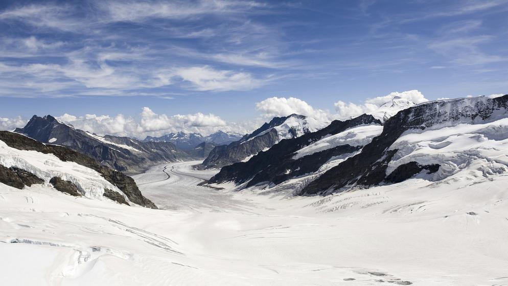 Aletschgletscher in der Schweiz | Bild:MEV/Holger Schultz,