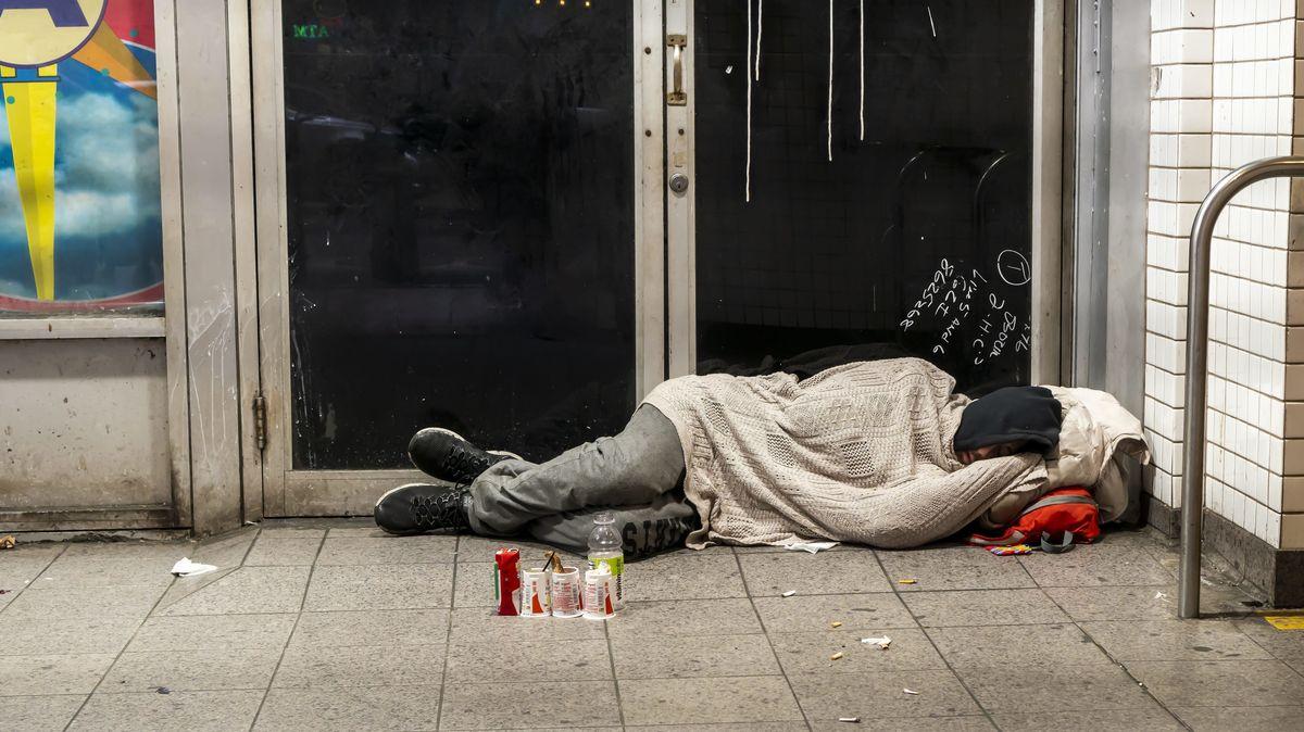 Obdachloser in Manhattan