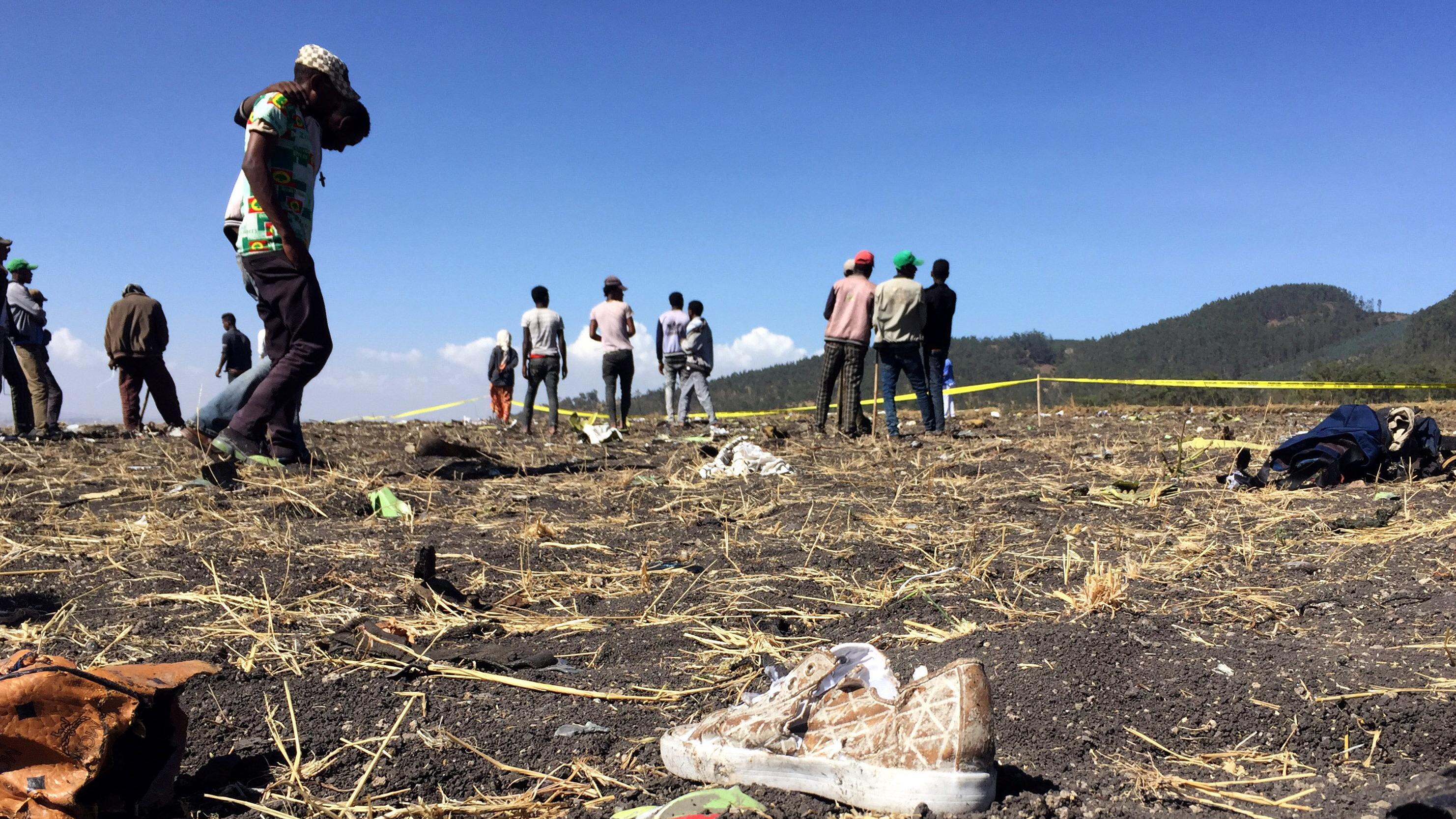 Unglücksstelle bei Addis Abeba