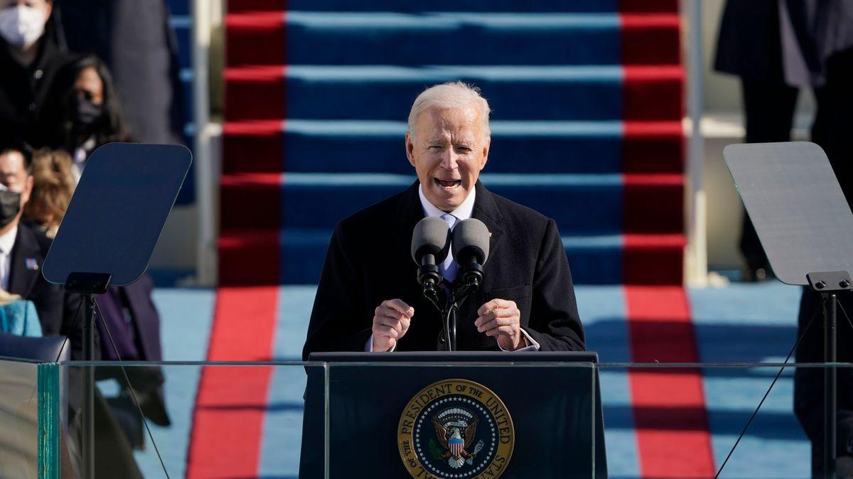 Joe Biden bei seiner Amtsantrittsrede