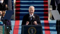 Joe Biden bei seiner Amtsantrittsrede | Bild:pa/dpa