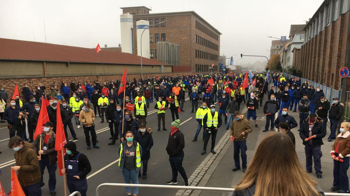 Protestierende in Schweinfurt