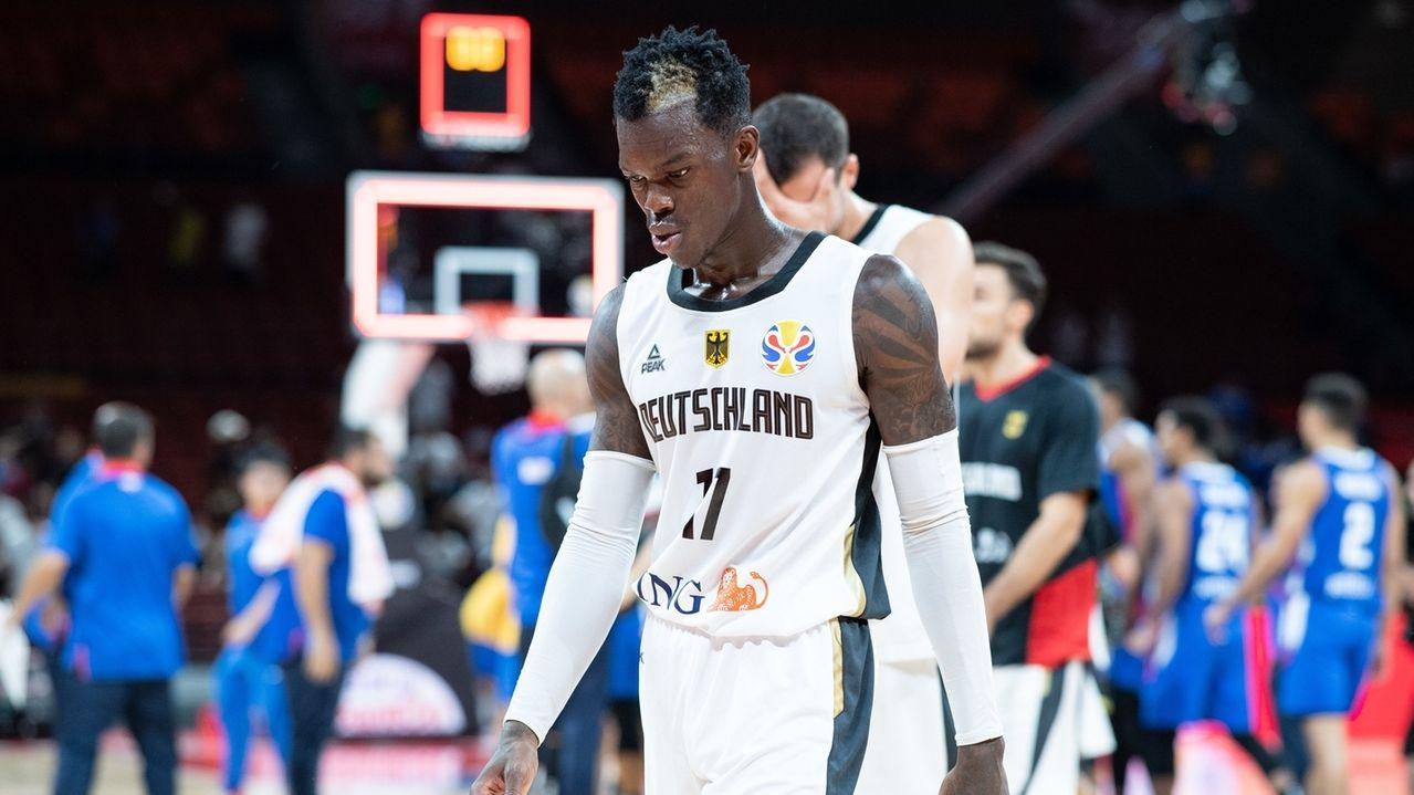 Enttäuschte deutsche Spieler nach der Niederlage gegen die Dominikanische Republik