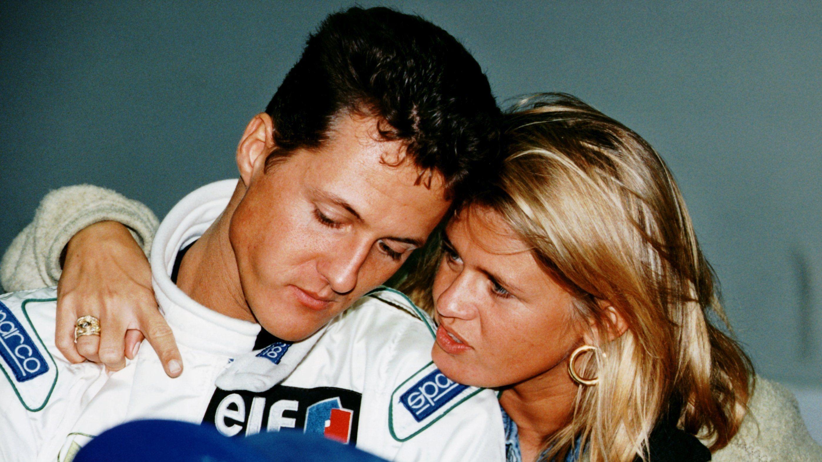 Das Leben von Michael Schumacher wird als Dokumentation verfilmt. Hier ein Bild von 1994 mit seiner späteren Ehefrau Corinna.