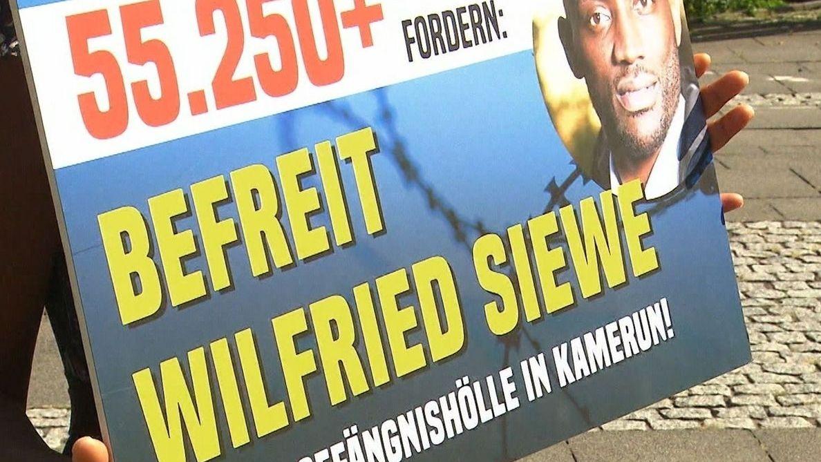 Solidaritätsaktion für Wilfried Siewe