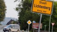 Ortsschild Lichtenberg   Bild:Nicolas Armer/dpa