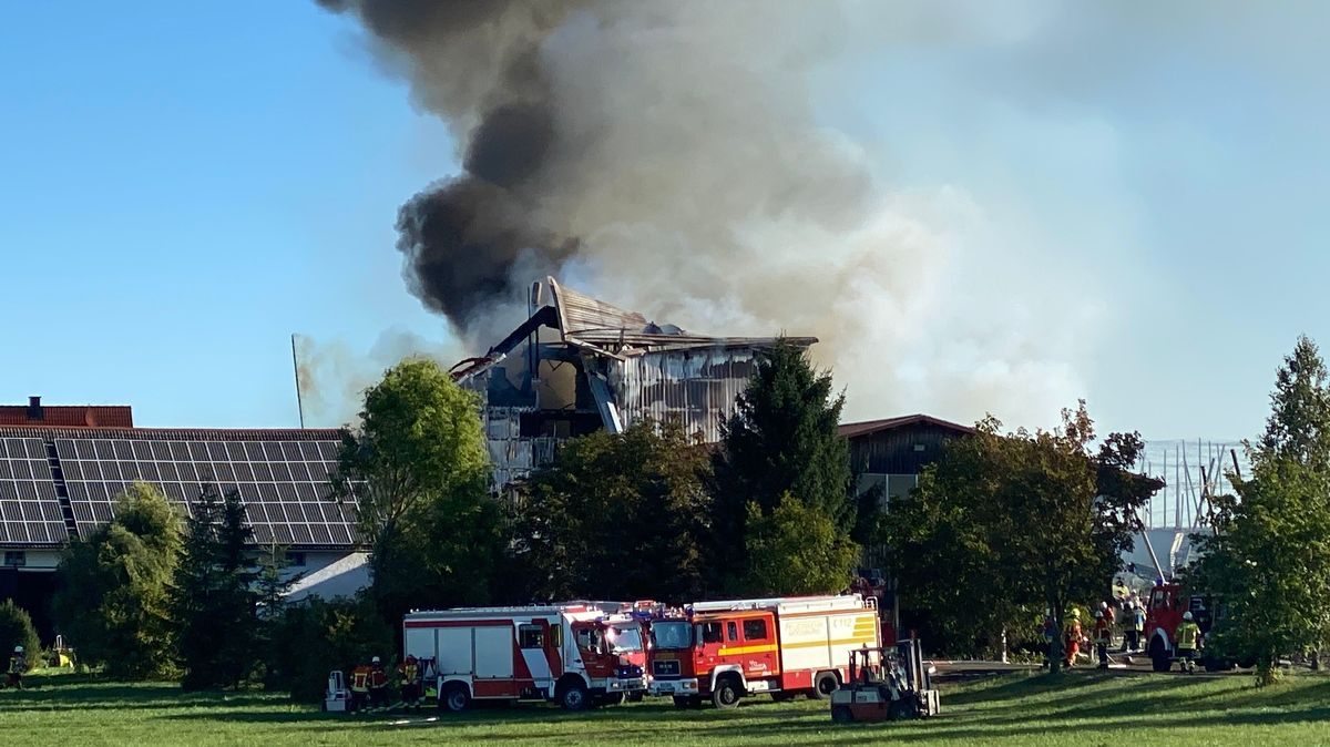 Großbrand in Hopfenbetrieb in der Hallertau