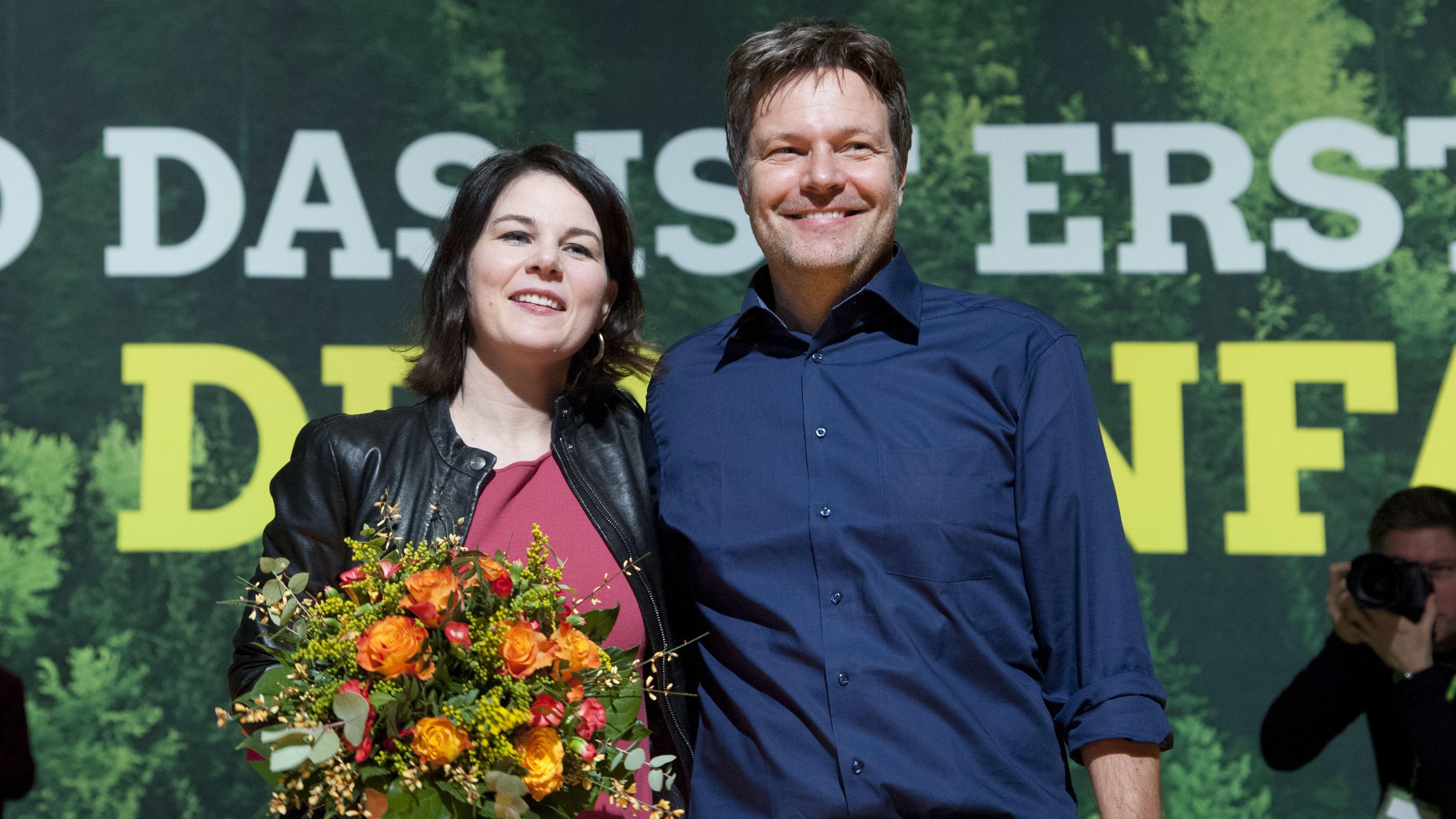 Die beiden Parteivorsitzenden Annalena Baerbock und Robert Habeck
