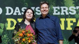 Die beiden Parteivorsitzenden Annalena Baerbock und Robert Habeck | Bild:picture alliance / Sven Simon