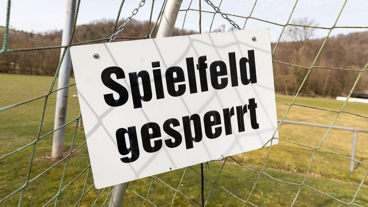 Fußballplatz gesperrt