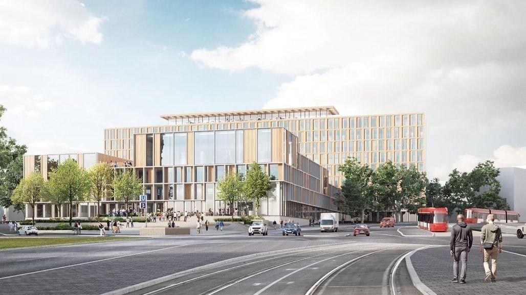 Modell des umgestalteten evangelischen Campus vom Architektenbüro Franz und Sue ZT GmbH, Wien.