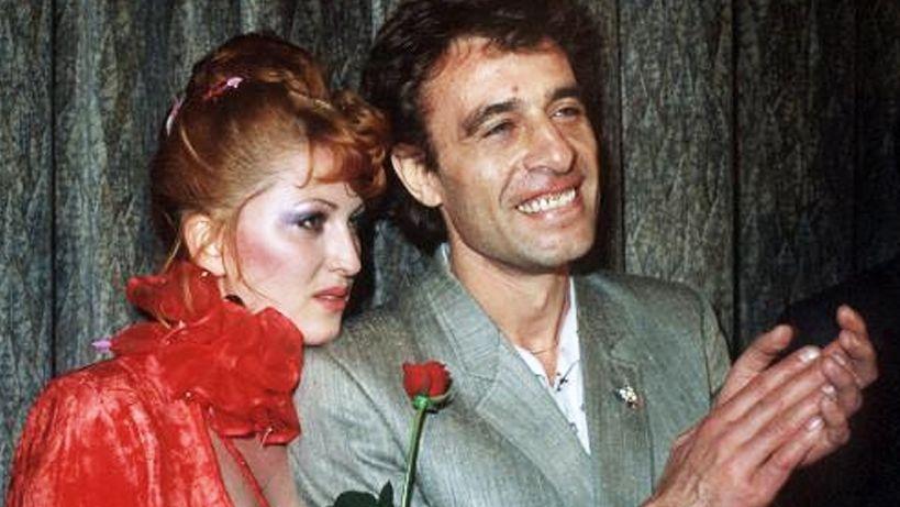 """Cleo Kretschmer und Klaus Lemke nach der Premiere ihres Films """"Arabische Nächte"""" in München (1979)"""