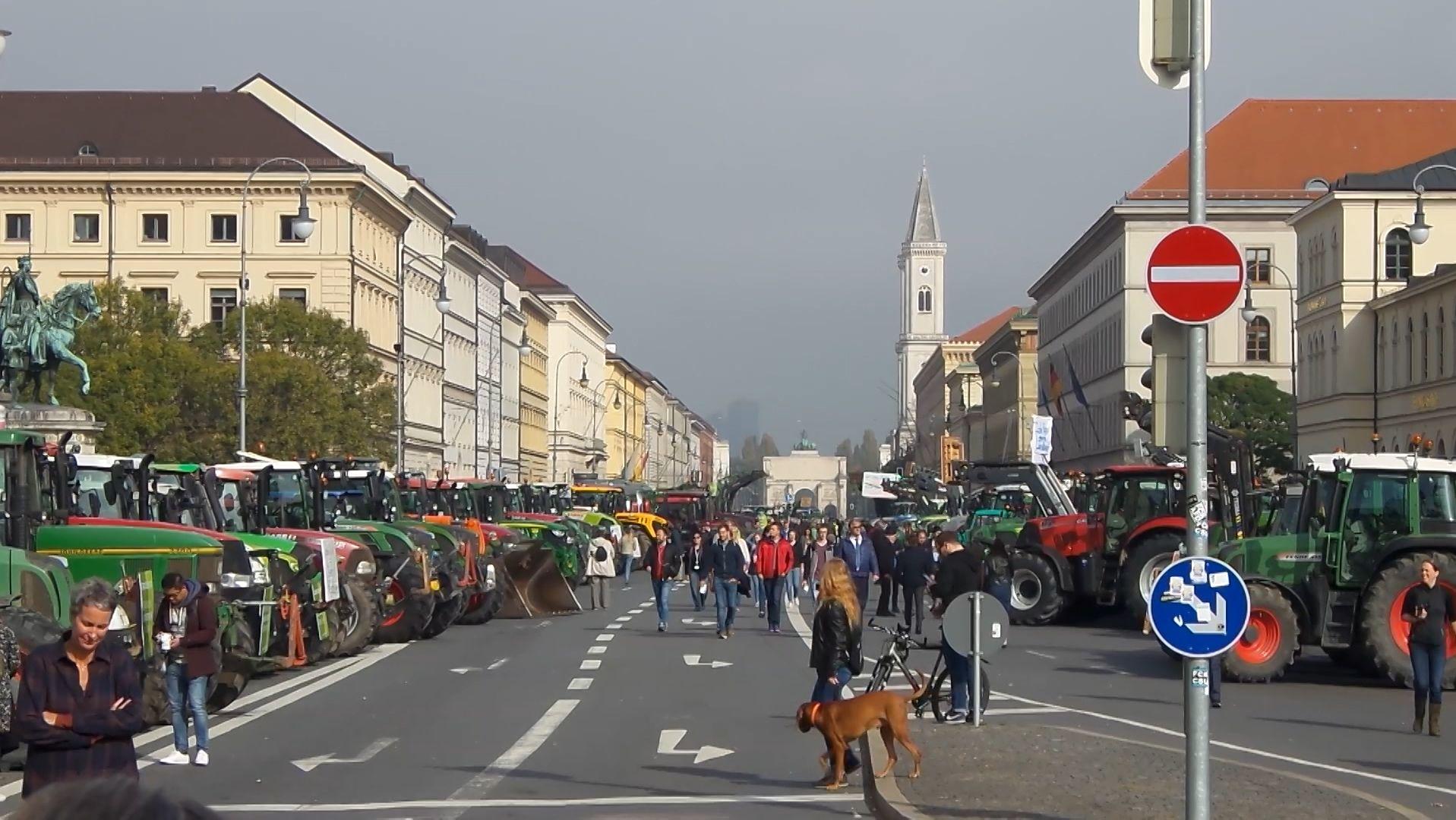 Bauernproteste in München