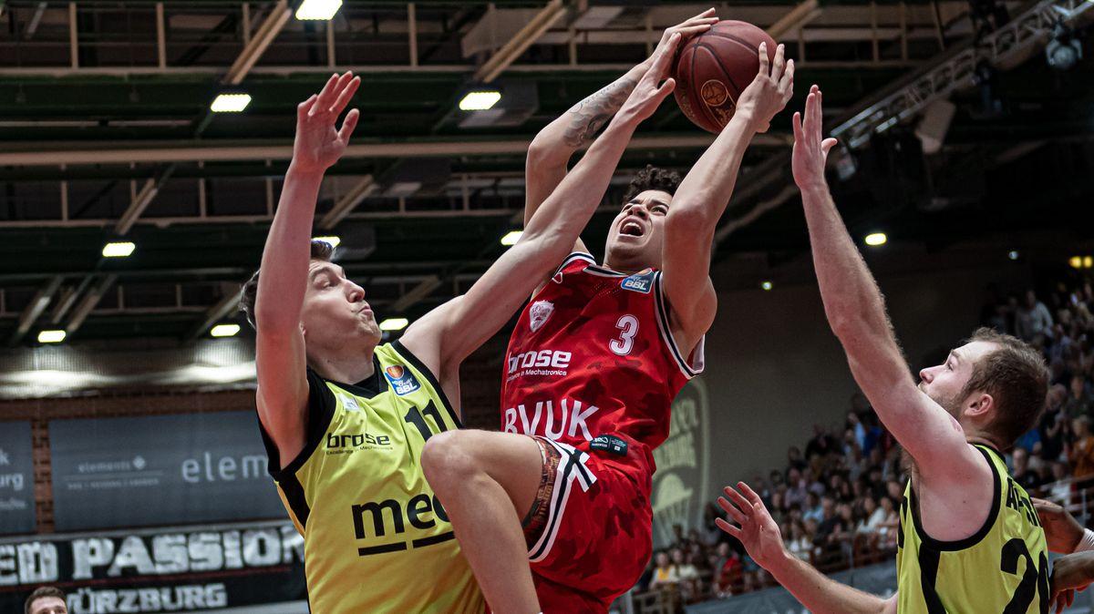 Spielszene der Basketball-Bundesliga